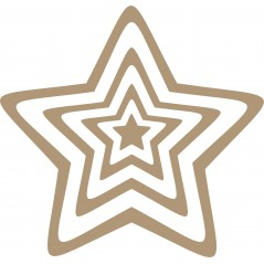 3mm mdf 4 Piece Star Fairy Doors and Fairy Shapes