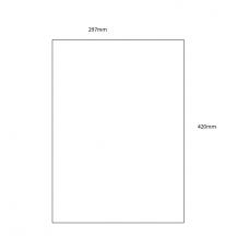 Acrylic Sheet - A3 Size (297mm x 420mm) Basic Shapes - Square Rectangle Circle