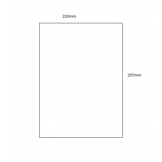 Acrylic Sheet - A4 Size (297mm x 210mm) Basic Shapes - Square Rectangle Circle