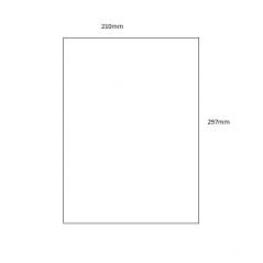 Acrylic Sheet - A4 Size (297mm x 210mm) Basic Shapes - Square Rectangle Circle