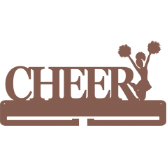 4mm MDF CHEER medal hanger (1 FIGURE RIGHT SIDE)