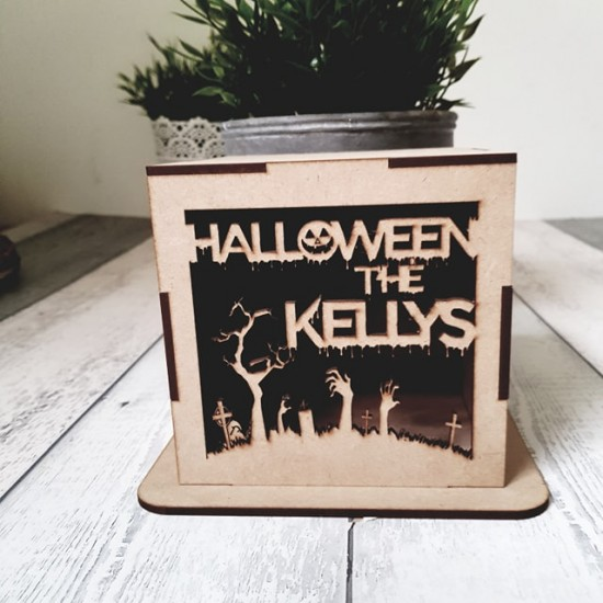 3mm mdf Light Box - Halloween at the Name Halloween