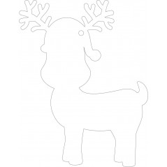 100mm Acrylic Cute Reindeer Shape (pack of 5) Christmas Acrylic