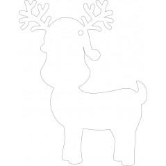 100mm Clear Acrylic Cute Reindeer Shape (pack of 5) Christmas Acrylic