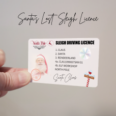 Santa's Driving Licence Christmas Craft Shapes
