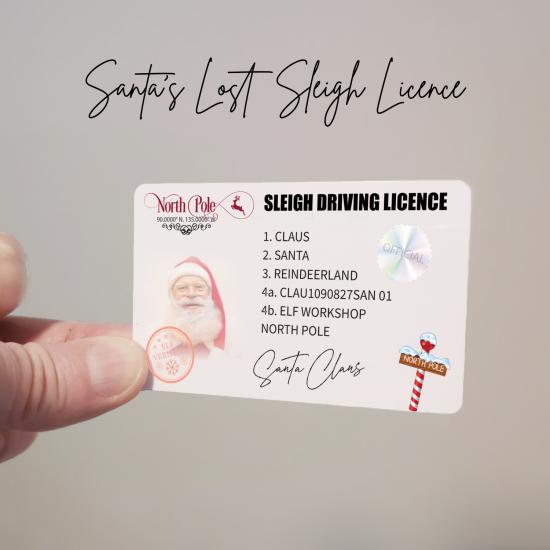Santa's Driving Licence Christmas Craft Shapes