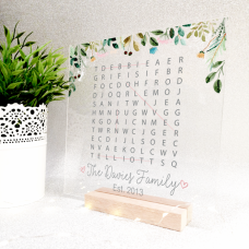Printed IKEA Ribba or Sannahed Replacement Front Acrylic - Word Search Design 4 Mother's Day