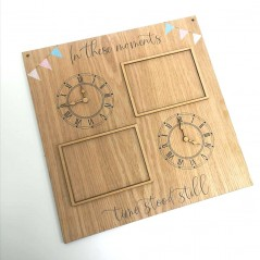4mm Oak Veneer Time Stood Still Printed Plaque UV PRINTED ITEMS