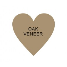 4mm OAK VENEER Standard Heart (single) Hearts