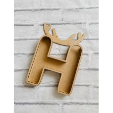 18mm Layered Fillable Antler Letter with name Easter