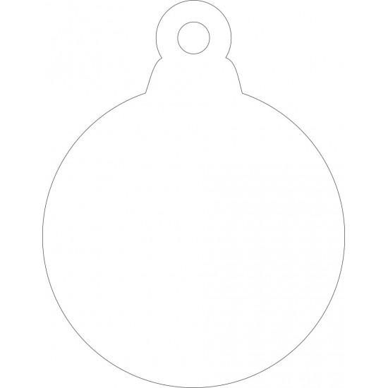 3mm Acrylic Plain Bauble Shape - (pack of 5) Christmas Baubles