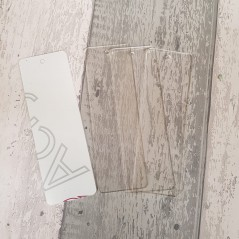 3mm clear perspex book marks Acrylic Keyrings / Tags