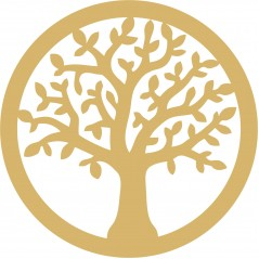3mm MDF Circle of Life Tree Trees Freestanding, Flat & Kits