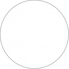 20cm Acrylic Circles  (3mm thickness) (Pack of 10) Basic Shapes - Square Rectangle Circle