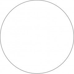 10cm Acrylic Circles (Pack of 10) Basic Shapes - Square Rectangle Circle