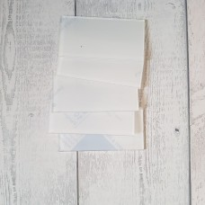3mm Clear Perspex Place Cards (100mmx50mm) Basic Plaque Shapes