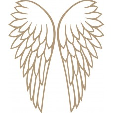 4mm mdf Cut Through Angel Wings (Pair) Fairy Doors and Fairy Shapes