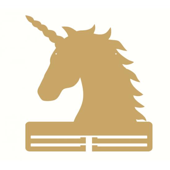 3mm mdf Unicorn Head Ribbon Holder Basic Plaque Shapes