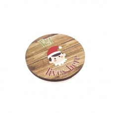 3mm Printed Token - Elf Lives Here Christmas Craft Shapes