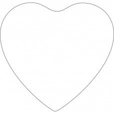 3cm Acrylic Fuller Heart  (Pack of 10) Christmas Baubles