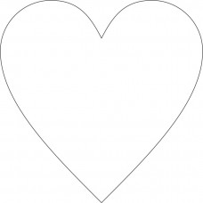 8cm Acrylic Standard Heart  (3mm thickness) (Pack of 10) Basic Shapes - Square Rectangle Circle