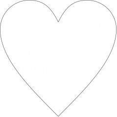 10cm Acrylic Standard Heart  (3mm thickness) (Pack of 10) Hearts and Stars