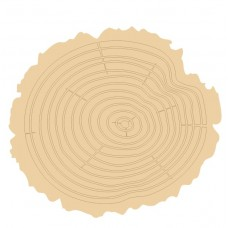 3mm mdf Etched Log Slice Style 1 (Pack of 5) Mother's Day