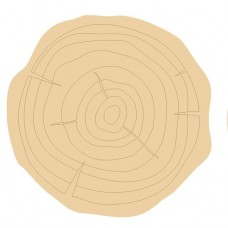3mm mdf Etched Log Slice Style 2 (Pack of 5) Mother's Day