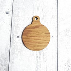 4mm Oak Veneer Bauble Shape (Pack of 10) Christmas Baubles