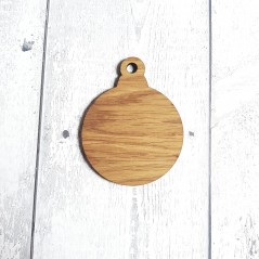 4mm Oak Veneer Bauble Shape (Pack of 10)