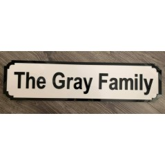 3mm Acrylic Street Sign (2 layers) 150mm high Basic Shapes - Square Rectangle Circle