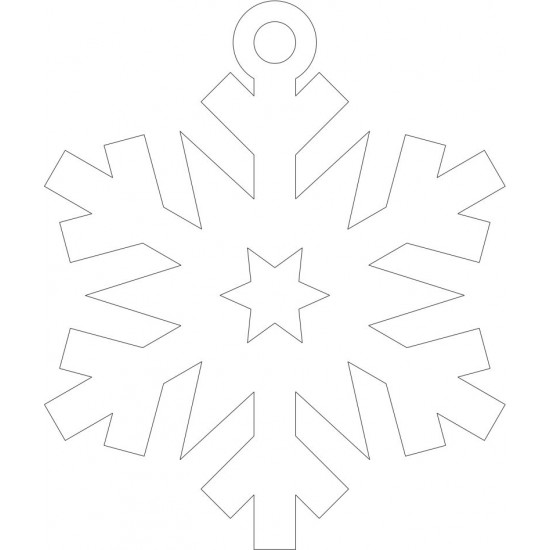 3mm Acrylic Snowflake (to match Santa Stop Here Sign) Christmas Baubles