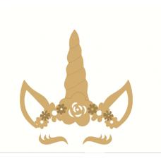 3mm mdf Layered Unicorn Flower Crown Eyelashes Set (new) Fairy Doors and Fairy Shapes