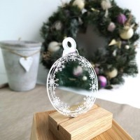 Printed Acrylic Snowflakes Bauble