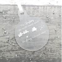 3mm Frosted Acrylic Printed We Stayed Apart Bauble