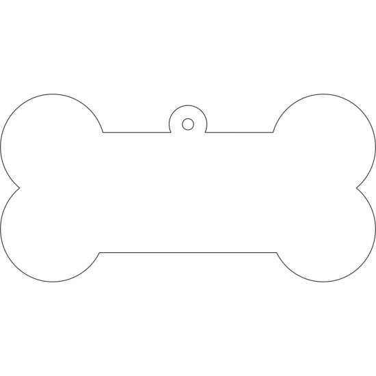 3mm Acrylic Dog Bone with hoop (100mm wide)(pack of 10) Tags