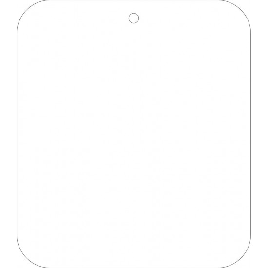 8CM X 7CM ACRYLIC TAG  with 1 hole (pack of 10) Basic Shapes - Square Rectangle Circle