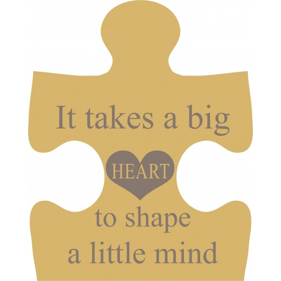 18mm Engraved Jigsaw - It takes a big heart to shape a little mind Teachers