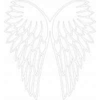 4mm mdf Joined Angel Wings