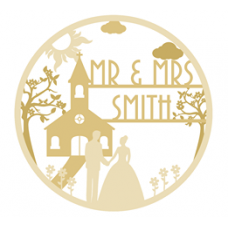 3mm mdf Triple Layered Wedding Plaque Wedding