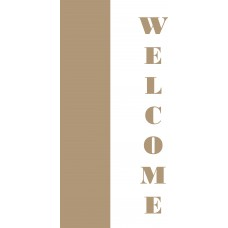 18mm and 6mm mdf leaner WELCOME sign Layered Designs