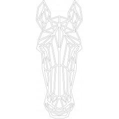 3mm mdf Geometric Horses Head Animal Shapes