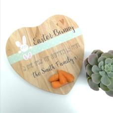 Heart Shaped Easter Bunny Treat Board - ribbon design Easter