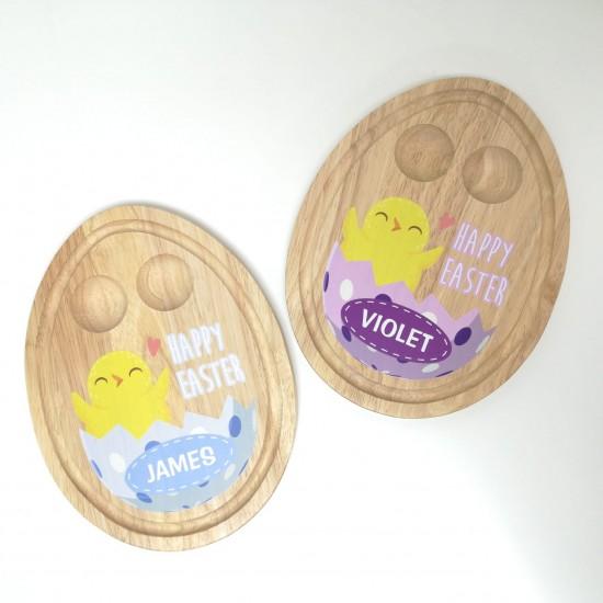 Egg Shaped Breakfast Egg Board - Easter Chick Design Easter