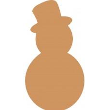 19mm Oak Veneer Snowman shape with Top Hat Christmas Crafting