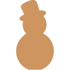 19mm Oak Veneer Snowman shape with Top Hat Christmas Crafting