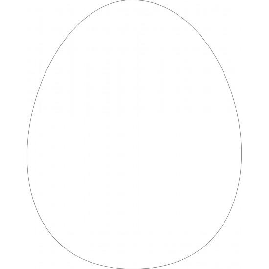 10cm Acrylic Egg Shape (Pack of 10) Easter