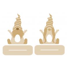 3mm layered Gnomes on Plinth Kinder or Creme Egg Holder