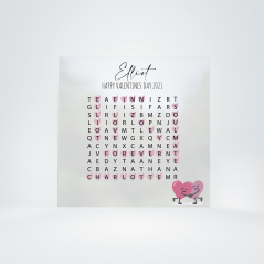 Printed IKEA Ribba or Sannahed Word Search - Valentines Personalised and Bespoke