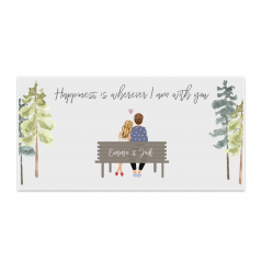 Printed Bench Plaque Valentines